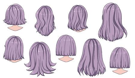 Hermoso peinado de cabello de mujer. Vista trasera.