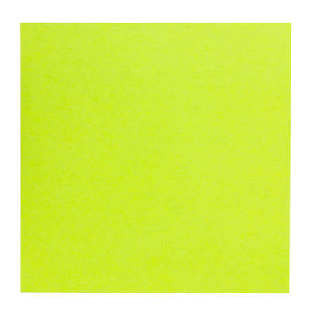 Flat green square sticky note, isolated on white background photo