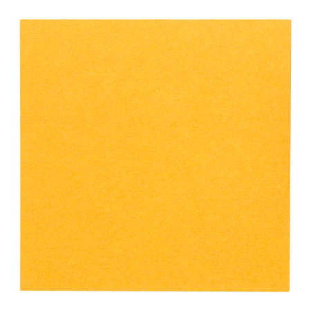 Flat orange square sticky note, isolated on white background photo
