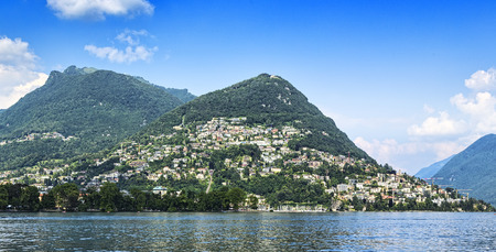 br: City of Lugano Br mountain