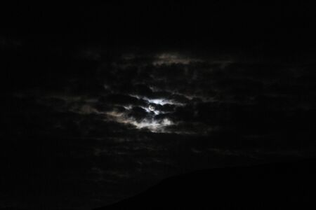 chink: moon in a cloudy sky