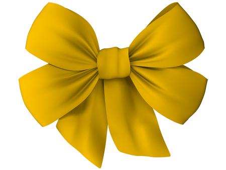 loop: arco amarillo de la tela Foto de archivo