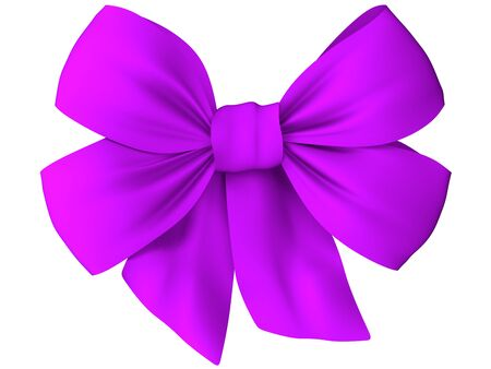 a loop: Purple bow of fabric Stock Photo