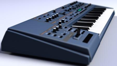 synthesizer: Synthesizer Keyboard Close Up