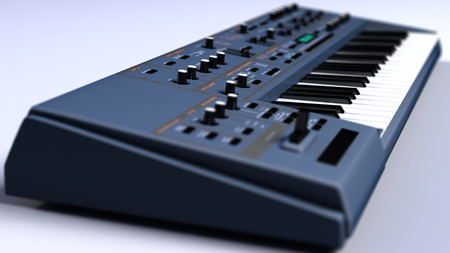 Synthesizer Keyboard Close Up