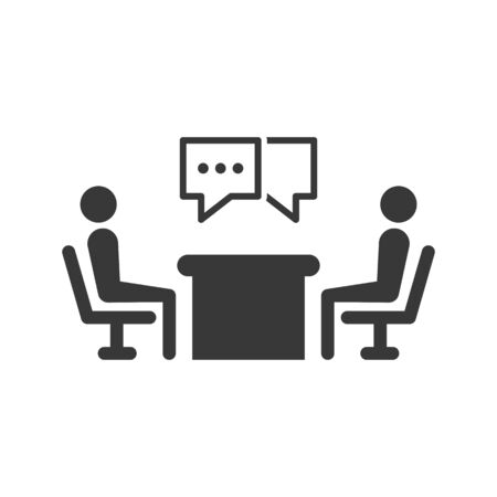 Business discussion icon Ilustrace