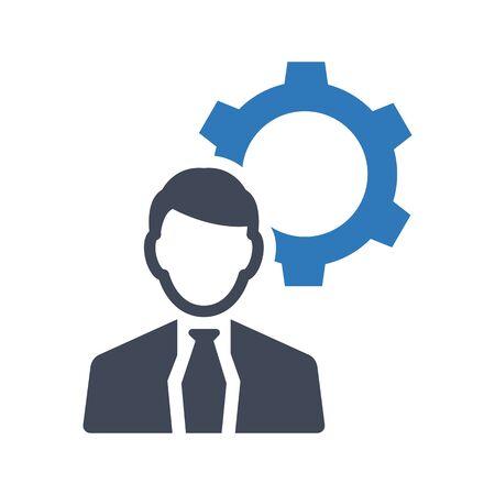 Symbol für die Unterstützung von Geschäftsexperten