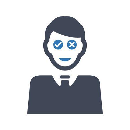 Business confusion icon