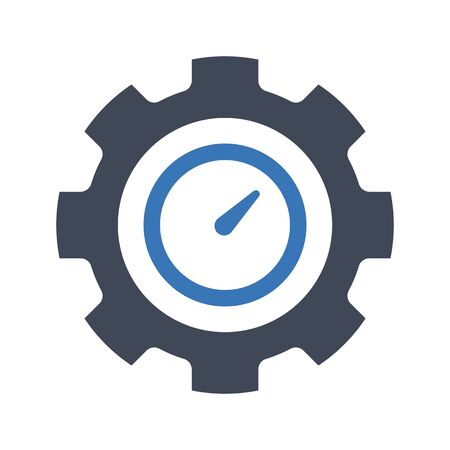 Time management icon with white background.
