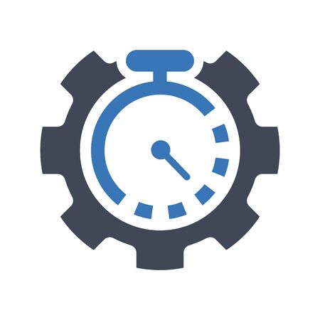 Business time management icon Stock Illustratie