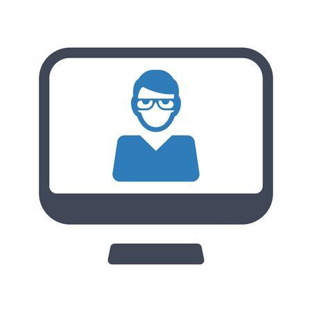 Online student icon