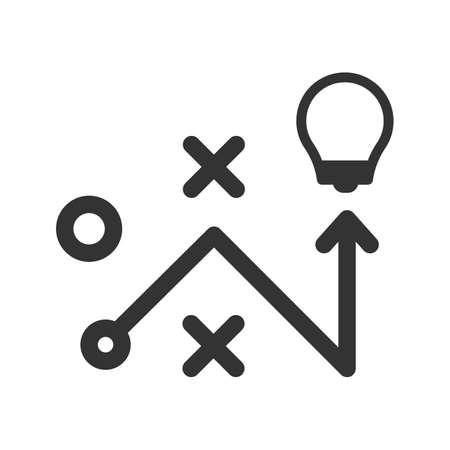 Strategy solution icon Vettoriali