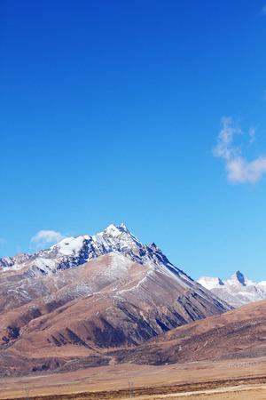tibet: Plateau in Tibet Stock Photo