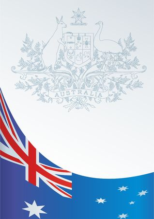 Template For The Award An Official Document With A Flag And