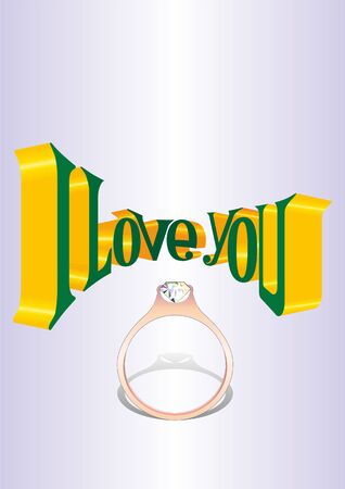 vector image of poster, greeting cards the fourteenth of February, Valentine's Day, I love you Banco de Imagens - 71091357