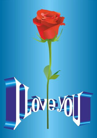 vector image of poster, greeting cards the fourteenth of February, Valentines Day, I love you