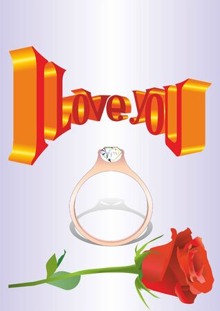 vector image of poster, greeting cards the fourteenth of February, Valentine's Day, I love you Zdjęcie Seryjne - 71091365