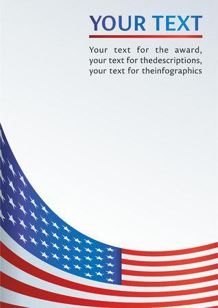 Vorlage für die Auszeichnung, ein offizielles Dokument mit einer Flagge und einem Symbol der Vereinigten Staaten von Amerika Standard-Bild - 72173108