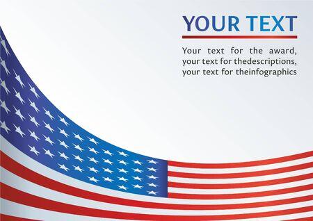 Vorlage für die Auszeichnung, ein offizielles Dokument mit einer Flagge und einem Symbol der Vereinigten Staaten von Amerika Standard-Bild - 72173104