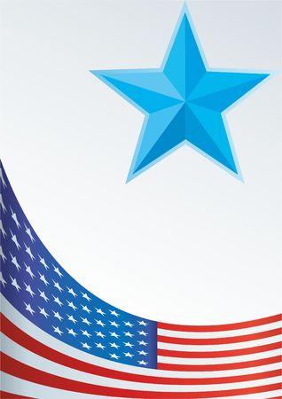 Vorlage für die Auszeichnung, ein offizielles Dokument mit einer Flagge und einem Symbol der Vereinigten Staaten von Amerika Standard-Bild - 72173105