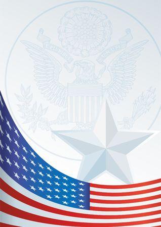 Vorlage für die Auszeichnung, ein offizielles Dokument mit einer Flagge und einem Symbol der Vereinigten Staaten von Amerika Standard-Bild - 72173111