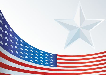 template for the award, an official document with a flag and a symbol of the United States of America Illustration