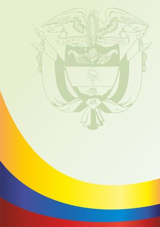 template for the award, an official document with a flag of the Republic of Colombia