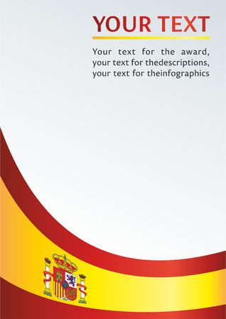 template for the award, an official document with a flag and a symbol of the Kingdom of Spain