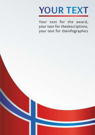 norway flag: Red template for the award, an official document from the flag of the Kingdom of Norway Illustration