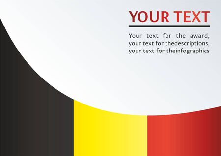 Template for the award, an official document with the flag of Belgium.