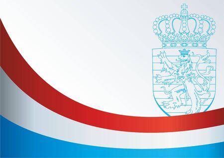 sjabloon voor de prijs, een officieel document met de vlag van het Groothertogdom Luxemburg Vector Illustratie