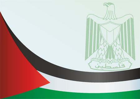 Template for the award, an official document with the flag of the State Of Palestine.