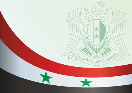 Template for the award, an official document with the flag and symbol of the Syrian Arab Republic.