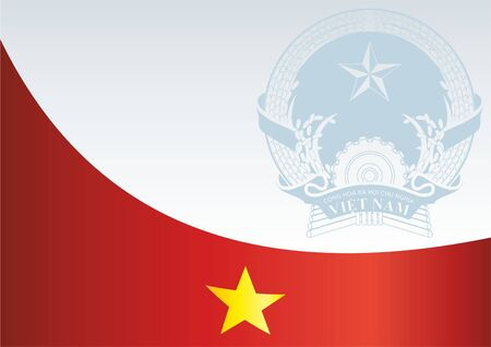 For the award, an official document with the flag and symbol of the Socialist Republic Of Vietnam Illustration