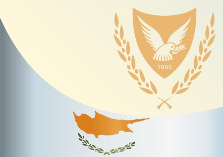 An official document with the flag and symbol of the Cyprus