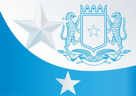 An official document with the flag and symbol of Federal Republic of Somalia template for the award, Illustration