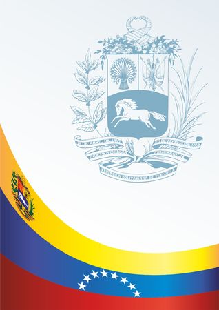 Template for the award, an official document with the flag and symbol of Bolivarian Republic of Venezuela