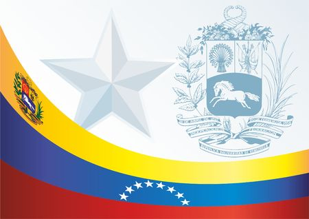 Good template for the award, an official document with the flag and symbol of Bolivarian Republic of Venezuela
