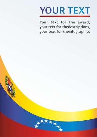Illustration of a template for the award, an official document with the flag of Bolivarian Republic of Venezuela
