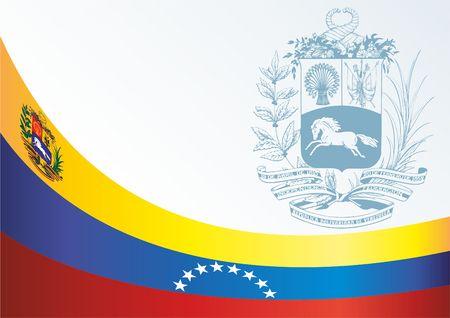 bandera de venezuela: Un documento oficial con la bandera y el símbolo de la República Bolivariana de Venezuela