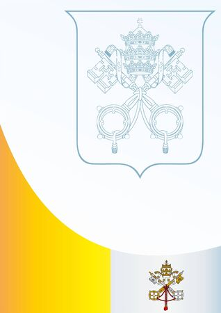 vatican city: template for the award, an official document with the flag and symbol Vatican City