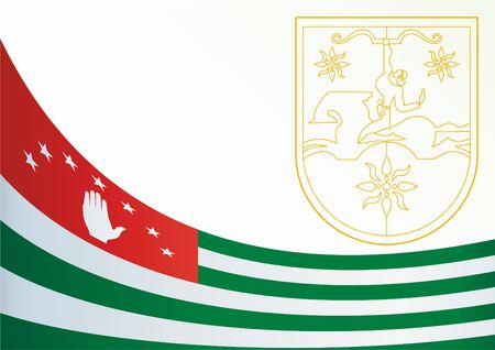 template for the award, an official document with the flag and symbol of Republic of Abkhazia 向量圖像
