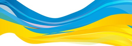 vlag van Oekraïne Stockfoto