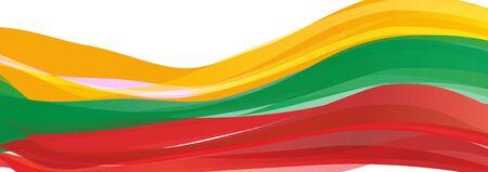 flag of Lithuania Banco de Imagens