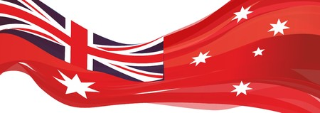 red Shopping Australia flag, Australian Red Ensign