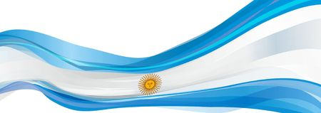 Flag of Argentina, light blue with a white sun Flag of the Argentine Republic Stock Photo - 77581937