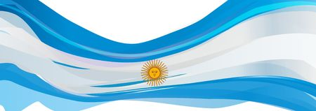 Flag of Argentina, light blue with a white sun Flag of the Argentine Republic Stock Photo - 77581938