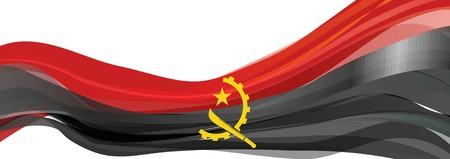 앙골라, 빨간색과 검은 색 앙골라 공화국의 국기의 국기
