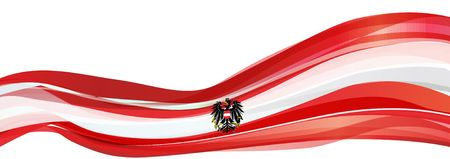 Flag of Austria, red with a white stripe and the black eagle Flag of the Republic of Austria