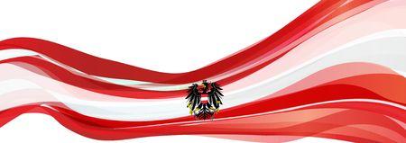 Vlag van Oostenrijk, rood met een witte streep en de zwarte adelaar Vlag van de Republiek Oostenrijk Stockfoto